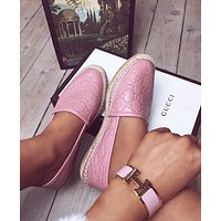 GUCCI GG Leather espadrille
