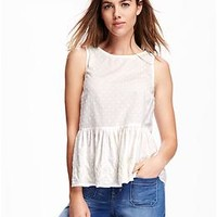 Embroidered Peplum Top for Women