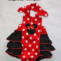 Minnie Mouse Ruffled Sunsuit Halter Outfit