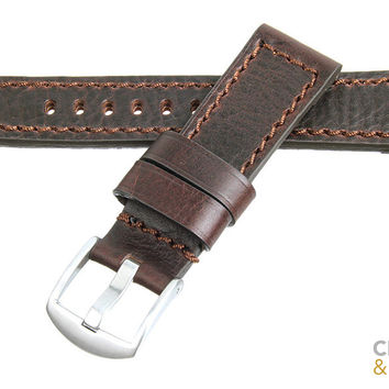 Chevlon - 22mm Vintage Oiled - Crown and Buckle