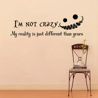 Wall Decals Alice in Wonderland Cheshire Cat Quote Decal I'm not crazy Sayings Sticker Vinyl Decals Wall Decor Murals Z322