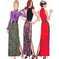 """1970's Simplicity 5240 Retro Woman's Maxi Skirt and Blouses Size 10    Bust 32 1/2""""/ 83cm    Vintage Sewing Pattern"""