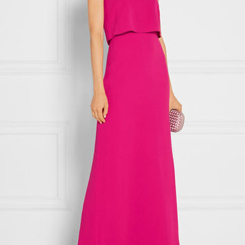 Halston Heritage - Strapless stretch-crepe gown