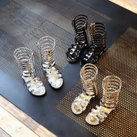 hot sell summer boots High-top fashion Roman girls sandals kids gladiator sandals toddler baby sandals girls high quality shoes