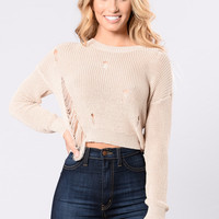 All Day Dancing Sweater - Taupe