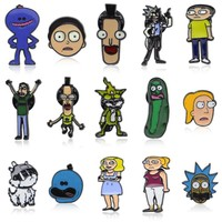 Trendy Fashion Rick and Morty Classic Cartoon icons Style Enamel pin Badge Buttons Brooch Anime Lovers Shirt Denim Jacket lapel pin AT_94_13