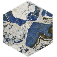 Merola Tile Agata Hex 8-5/8 in. x 9-7/8 in. Porcelain Floor and Wall Tile (11.19 sq. ft. / case)-FCD10AGX - The Home Depot