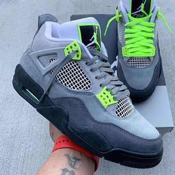 Nike Air Jordan 4 AJ4 men's and women's high-top stitching color basketball shoes sneakers #1