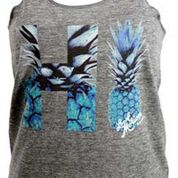 "Local Motion Women's ""Pineapple Hawaii"" Racer Back Tank"