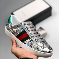 Kuyou Fa1973 Gucci Silver Platform Low-top Shoes For Men And Women