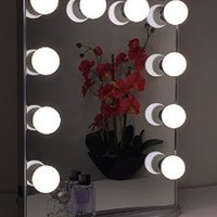 Hollywood Glow Vanity Mirror By Impressions Vanity Large (Glittery Silver)