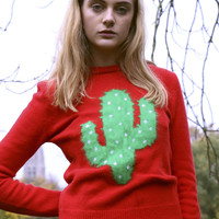 Limited Edition: Cactus Knit Jumper Red