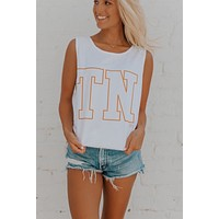 TN White Tank - Orange
