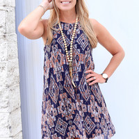 Before the Dawn Dress, Navy