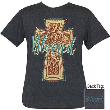Girlie Girl Originals Preppy Blessed Western Cross T-Shirt