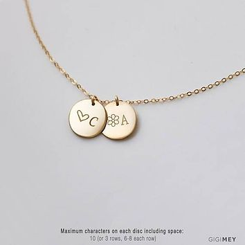 Family Name Necklace, Family Initial, Family Tree,