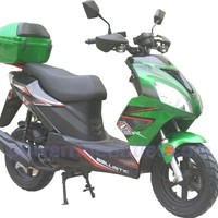 PRO FT58-Sports 4 Stroke 150cc Scooter with Honda GY6 Clone Engine, 13 inch Aluminum Wheels, Redesign Body Style, Fully Assembled Package (Free Rear Trunk)