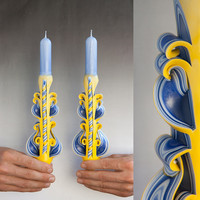 Taper candles - Candle set  - Blue candles