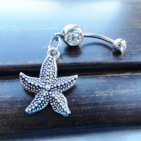 Starfish Belly Button Ring Belly Jewelry