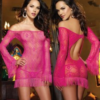 Cute On Sale Hot Deal Transparent Sexy Dress Spaghetti Strap Set Sleepwear Exotic Lingerie [8864112903]