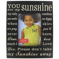 "5"" x 7"" Black & Cream You Are My Sunshine Frame 