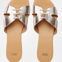 ASOS FROST Leather Lace Up Sandals