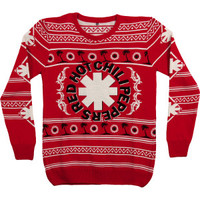 Red Hot Chili Peppers Palm Trees Ugly Xmas Sweatshirt - Red Hot Chili Peppers - R - Artists/Groups - Rockabilia