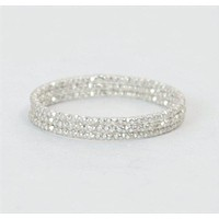 Thin Round Faceted Sterling Silver Ring