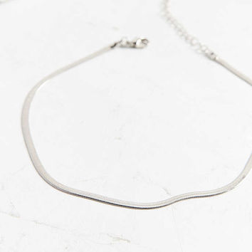 Snake Chain Choker Necklace - Urban Outfitters