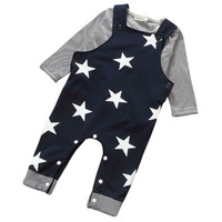 2Pcs Cotton Baby Kids Long Sleeve TopsPants Outfits Set Clothing Rompers Suit 0-3T UBY