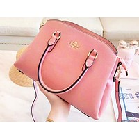 Coach fashion casual lady's solid color shopping bag hot seller with one shoulder bag