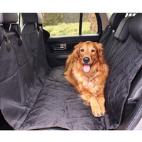 Pet Car Seat Cover with Seat Anchors Waterproof Snap Straps Luxurious Design