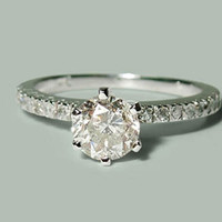 White Gold 14K 1.35 carat round diamonds wedding ring jewelry new