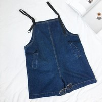 High Waist Denim Shorts for Women Overalls Summer Jeans Short Vintage Casual Femme Short Jeans Mujer WS8521