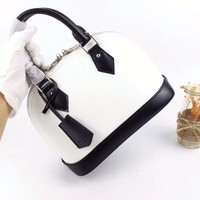 HCXX 19Aug 041 M51971 Louis Vuitton LV Alma BB Tote Classic Shoulder Strap Handbag 25-19-11cm White