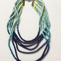 Ombre Beaded Necklace by Anthropologie Blue Motif One Size Necklaces