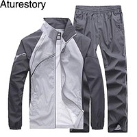 Smart Tracksuit Set - Long Sleeved Thin Track Suit Sportswear (2 Pieces)