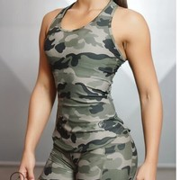 Women Tank Tops Sexy Crop Camouflage Fitness Clothing GymTank Shirt Crossfit Bodybuilding Sleeveless Vest Stringer Female Tops