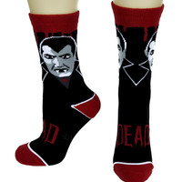 Dracula Vampire Dress Crew Socks Occult Gift Clothing