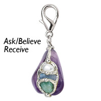 Ask Believe Receive Amulet - New Age, Spiritual Gifts, Yoga, Wicca, Gothic, Reiki, Celtic, Crystal, Tarot at Pyramid Collection