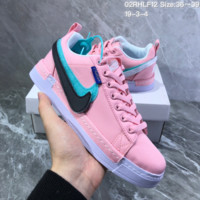 HCXX N823 Nike Lunar Force1 Duck Boot Magic Stick Colorful Recreational Double-hooked Canvas Board Shoes Pink