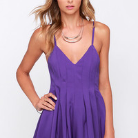 The Thought of You Purple Romper