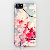 Dialogue With the Sky - Blue tones iPhone & iPod Case by Olivia Joy StClaire