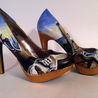 Hand Painted Pumps - Salvador Dali 'The Persistence of Memory' High Heels