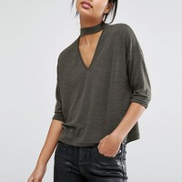 River Island Boxy Top With Choker