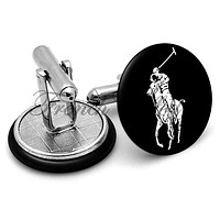 Ralph Lauren Polo Black Cufflinks