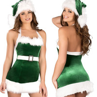 Winter Sexy Women Clothes Fashion Women Suit Ladies Santa Costume Christmas Party Fancy Party Cosplay Suit