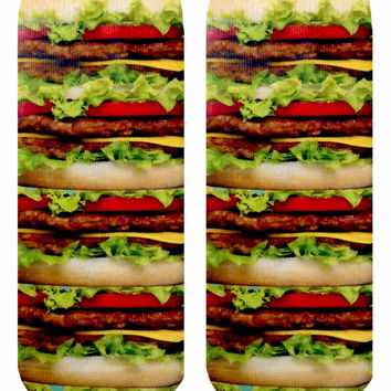 Stacked Hamburger Ankle Socks