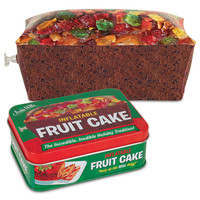 INFLATABLE FRUITCAKE IN A TIN