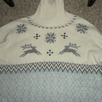Sweater Snowflake pullover Vintage GRUNGE Slouchy SWEATER Top